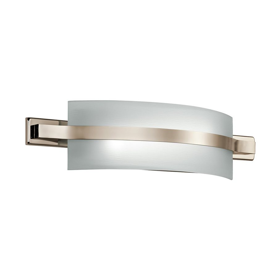 Led Battery Vanity Lights : Shop Kichler Lighting 1-Light Freeport Polished Nickel LED Bathroom Vanity Light at Lowes.com
