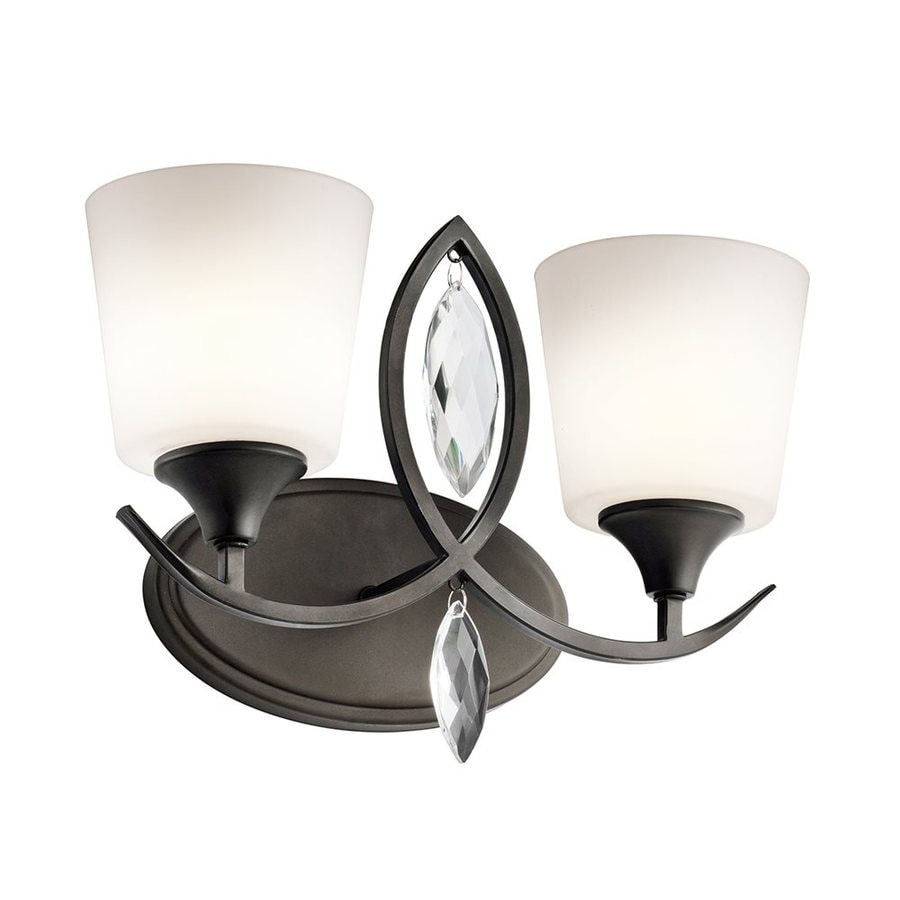 Shop Kichler Lighting 2-Light Casilda Olde Bronze Bathroom Vanity Light at Lowes.com