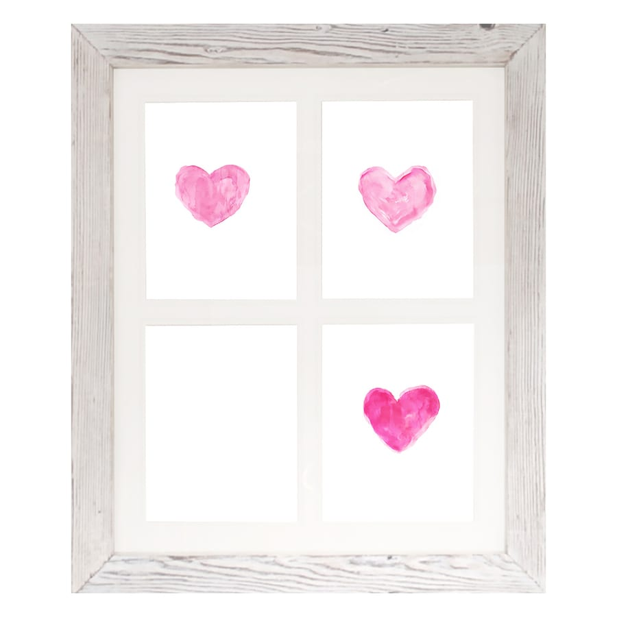 PTM IMAGES Heart Photo Collage White Picture Frame (Common: 16-in x 20-in; Actual: 20-in x 24-in)