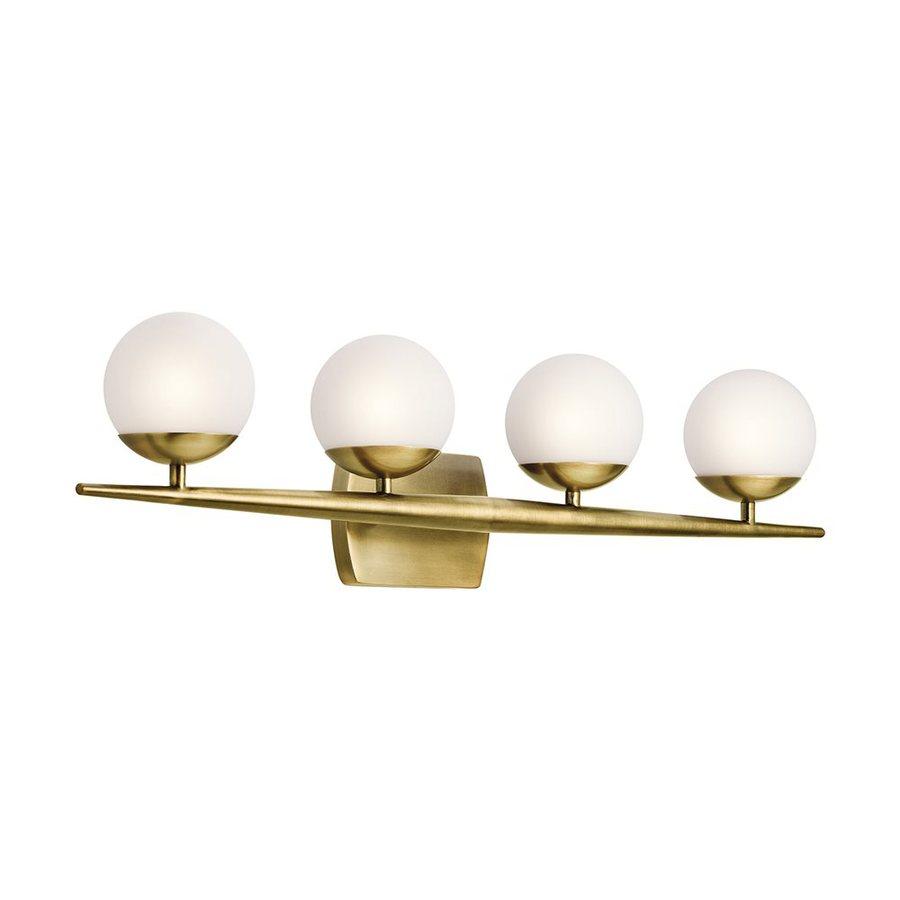 Kichler Lighting 4-Light Jasper Natural Brass Bathroom Vanity Light