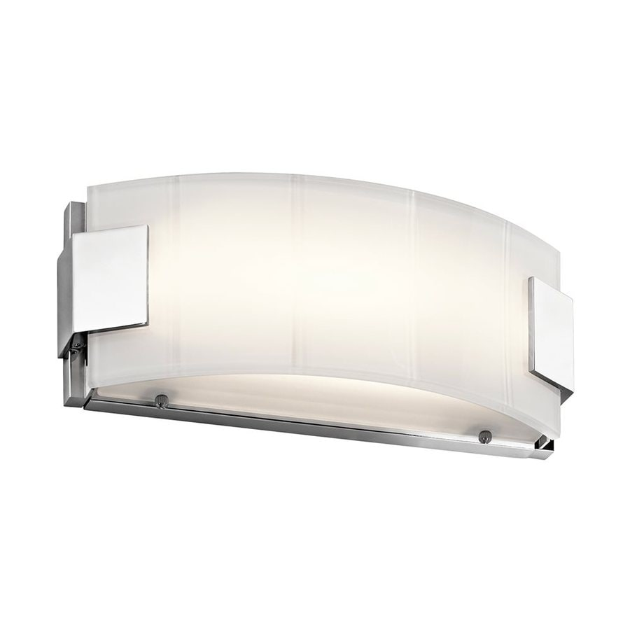 Led Battery Vanity Lights : Shop Kichler Lighting 1-Light Largo Chrome LED Bathroom Vanity Light at Lowes.com