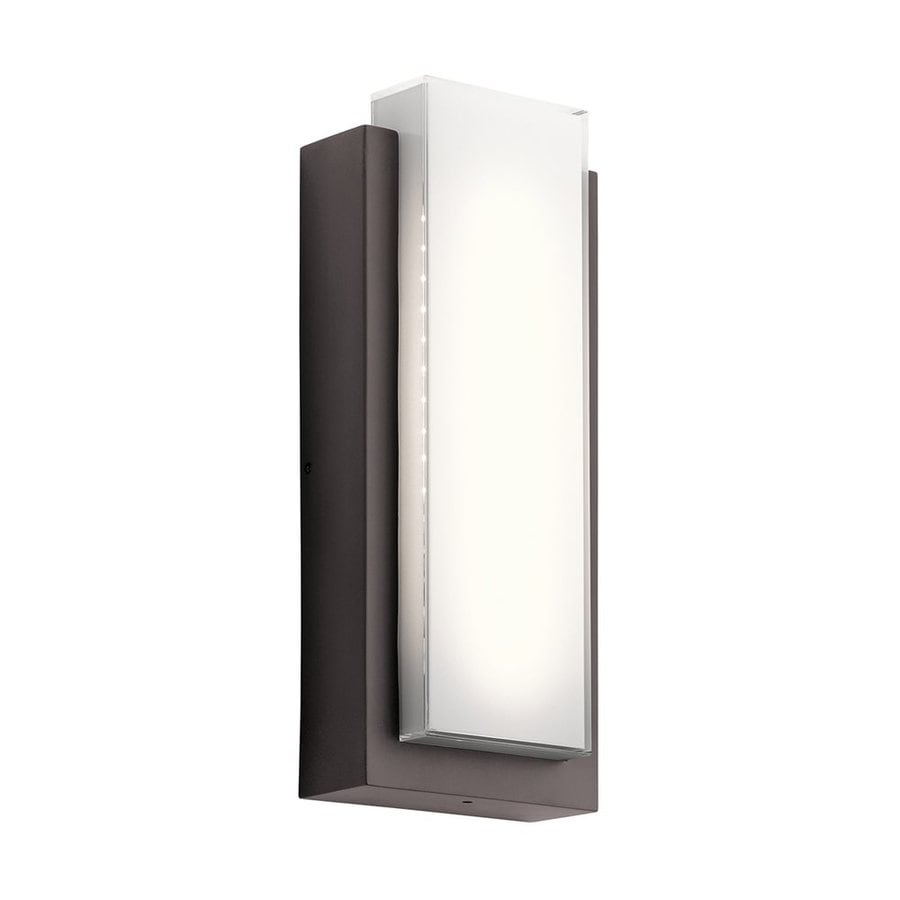 Kichler Lighting Dahlia 18.75-in H Led Architectural Bronze Outdoor Wall Light