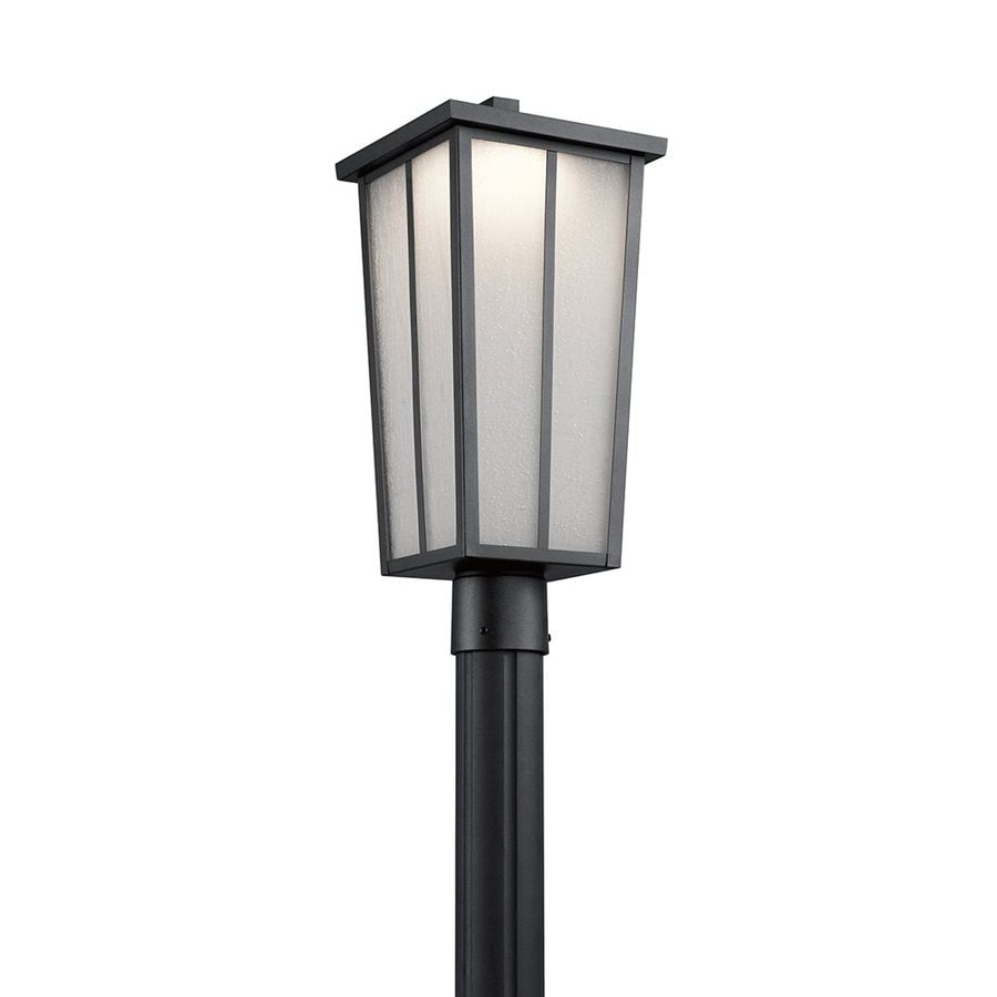 Kichler Lighting Amber Valley 19.75-in H Textured Black Integrated Led Post Light