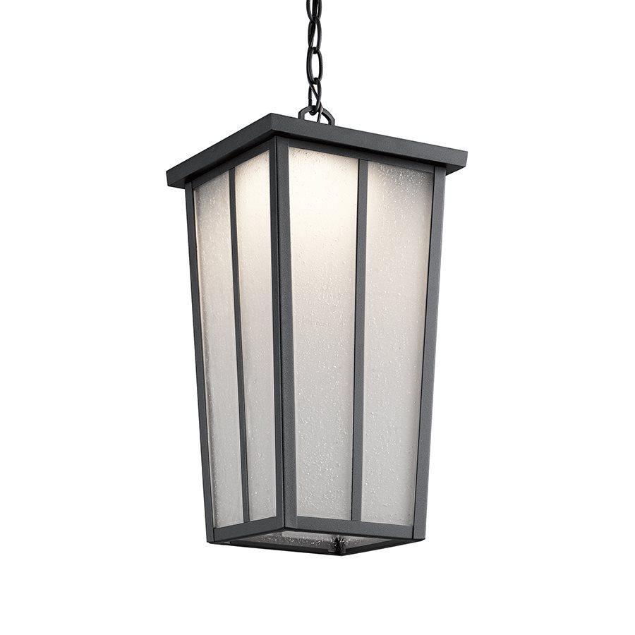 Kichler Lighting Amber Valley 18.25-in Textured Black Outdoor Pendant Light