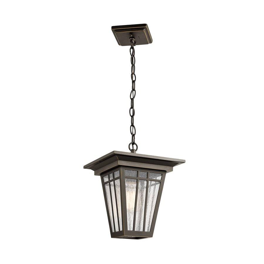 Kichler Lighting Woodhollow Lane 12.5-in Olde Bronze Outdoor Pendant Light
