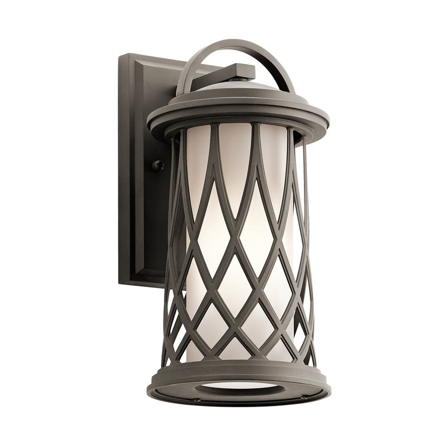 Kichler Lighting Pebble Lane 12.75-in H Olde Bronze Outdoor Wall Light