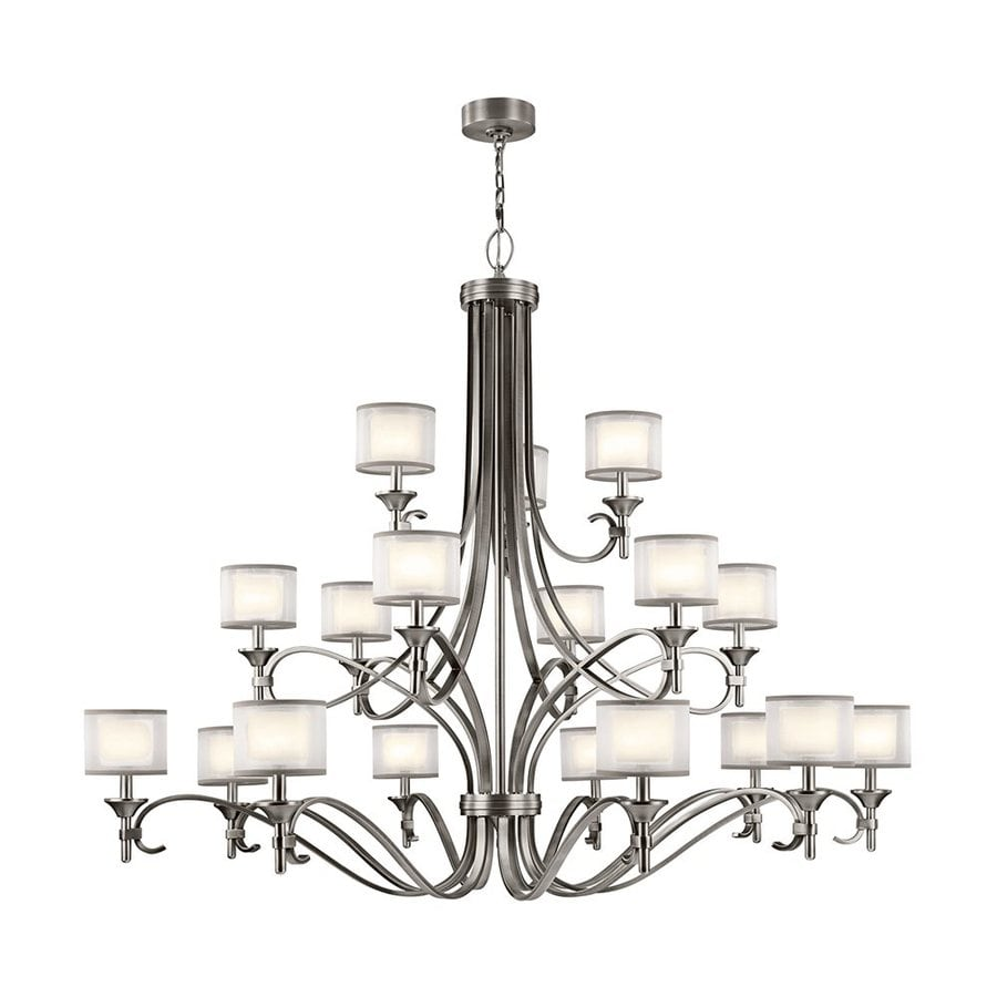 Kichler Lighting Lacey 62-in 18-Light Antique Pewter Vintage Tiered Chandelier