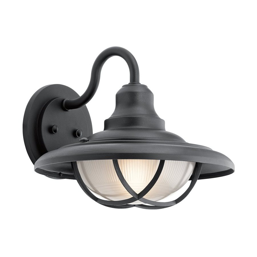Kichler Lighting Harvest Ridge 12.5-in H Textured Black Outdoor Wall Light