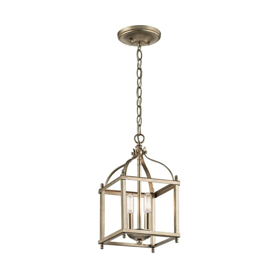 Kichler Lighting Larkin 8-in Sterling Gold Vintage Hardwired Mini Cage Pendant