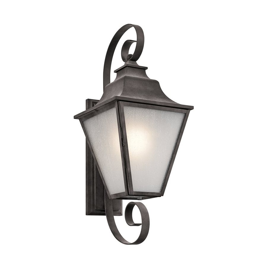 Kichler Lighting Northview 27-in H Weathered Zinc Outdoor Wall Light