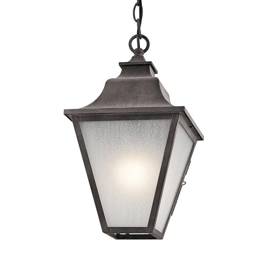 Kichler Lighting Northview 15-in Weathered Zinc Outdoor Pendant Light