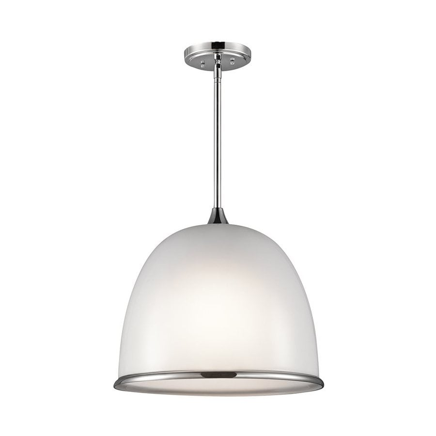 Kichler Lighting Rory 18-in Chrome Hardwired Single Dome Pendant