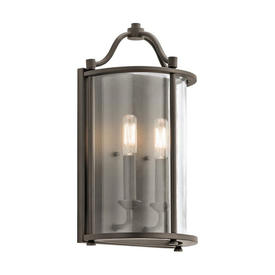 Kichler Lighting Emory 8.5-in W 2-Light Olde Bronze Candle Wall Sconce