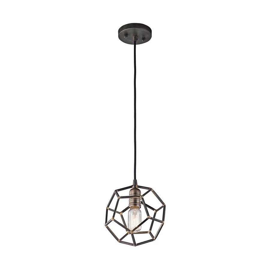 Kichler Lighting Rocklyn 8-in Raw Steel Industrial Hardwired Mini Cage Pendant