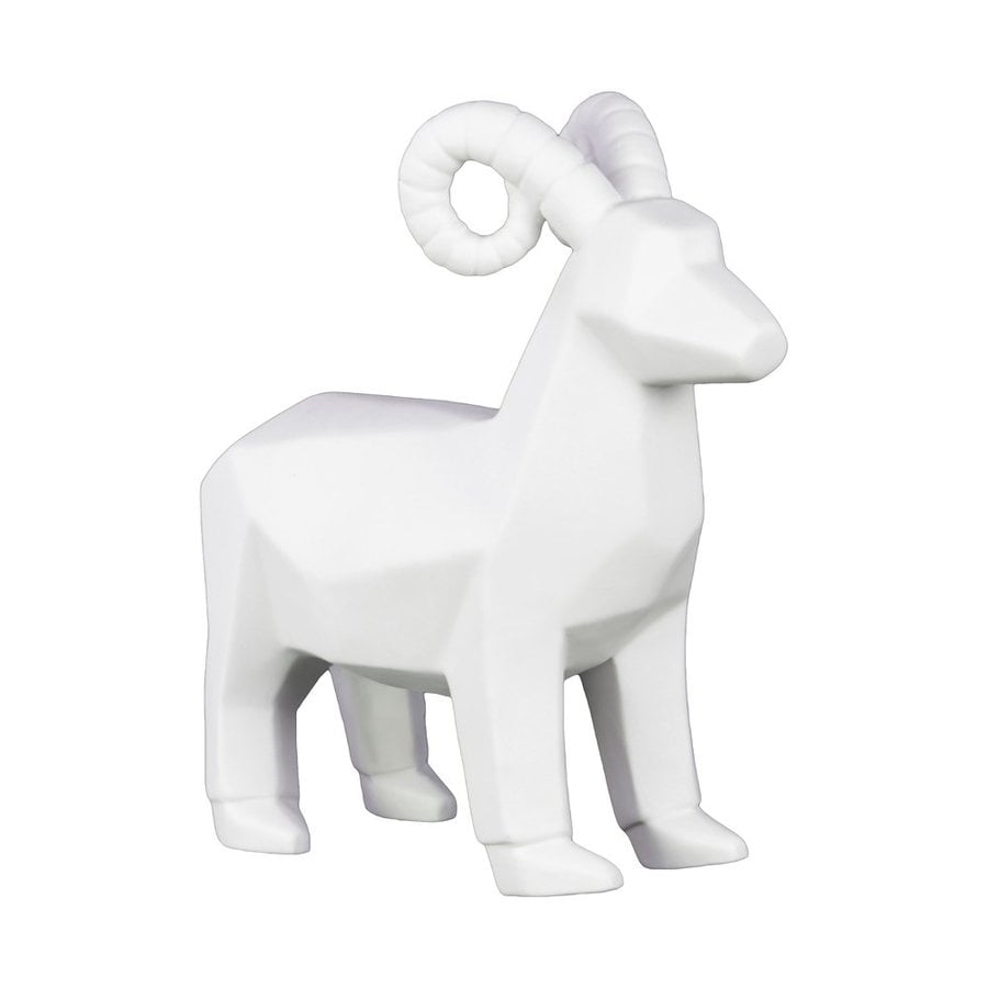 Urban Trends Ceramic Geometric Ram Figurine