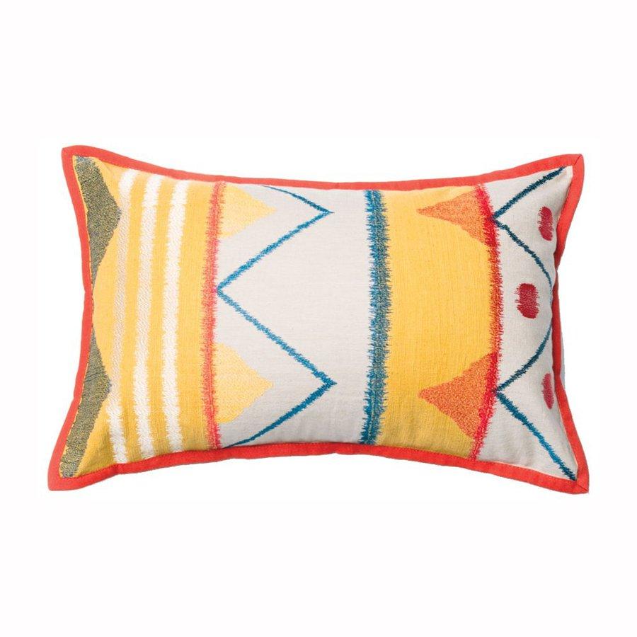Furniture of America 13-in W x 21-in L Yellow Rectangular Indoor Decorative Pillow