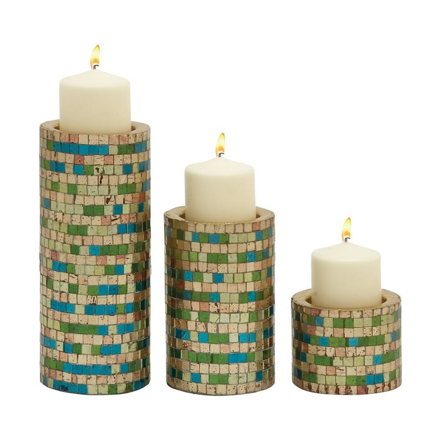 Woodland Imports 3 Candle Remarkable Metal Pillar Candle Holder