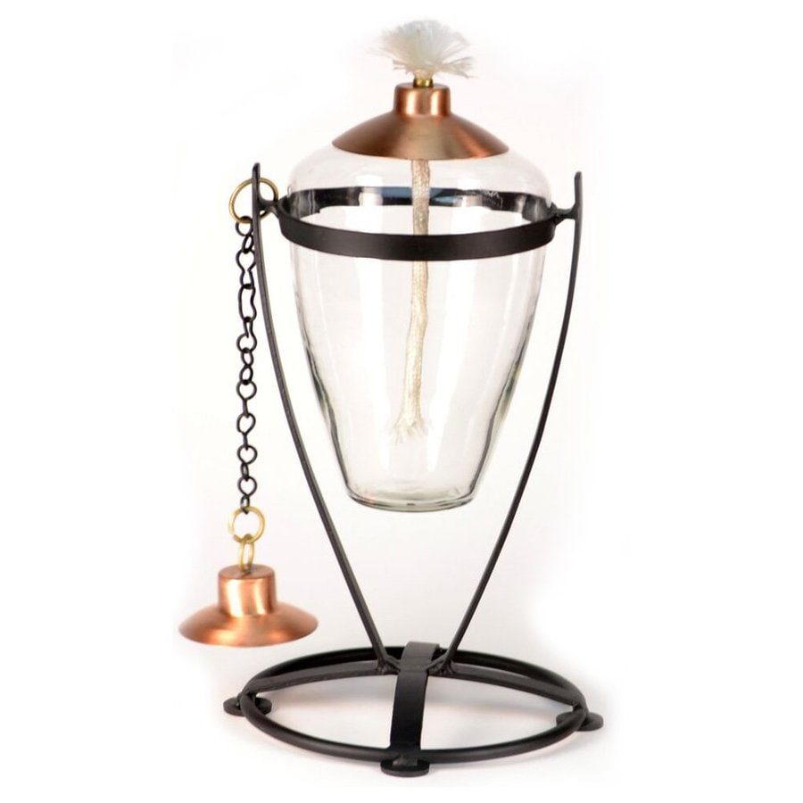 H. Potter 7-in x 12-in Clear Glass Oil Outdoor Decorative Lantern