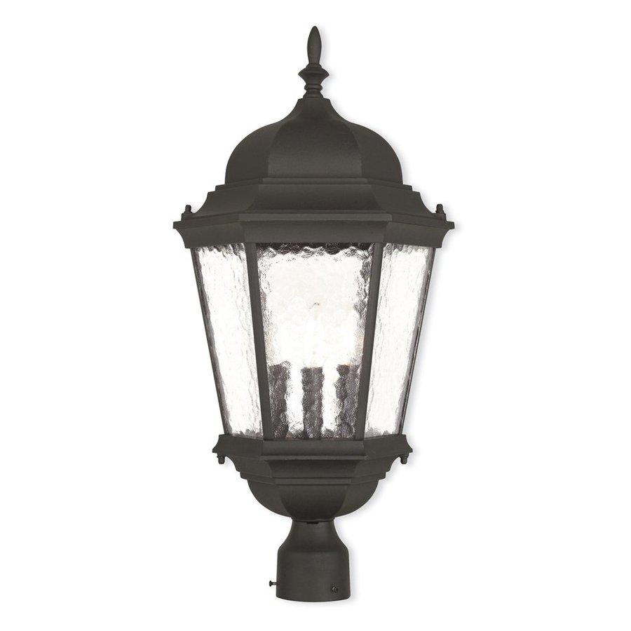 Livex Lighting Hamilton 27-in H Textured Black Post Light