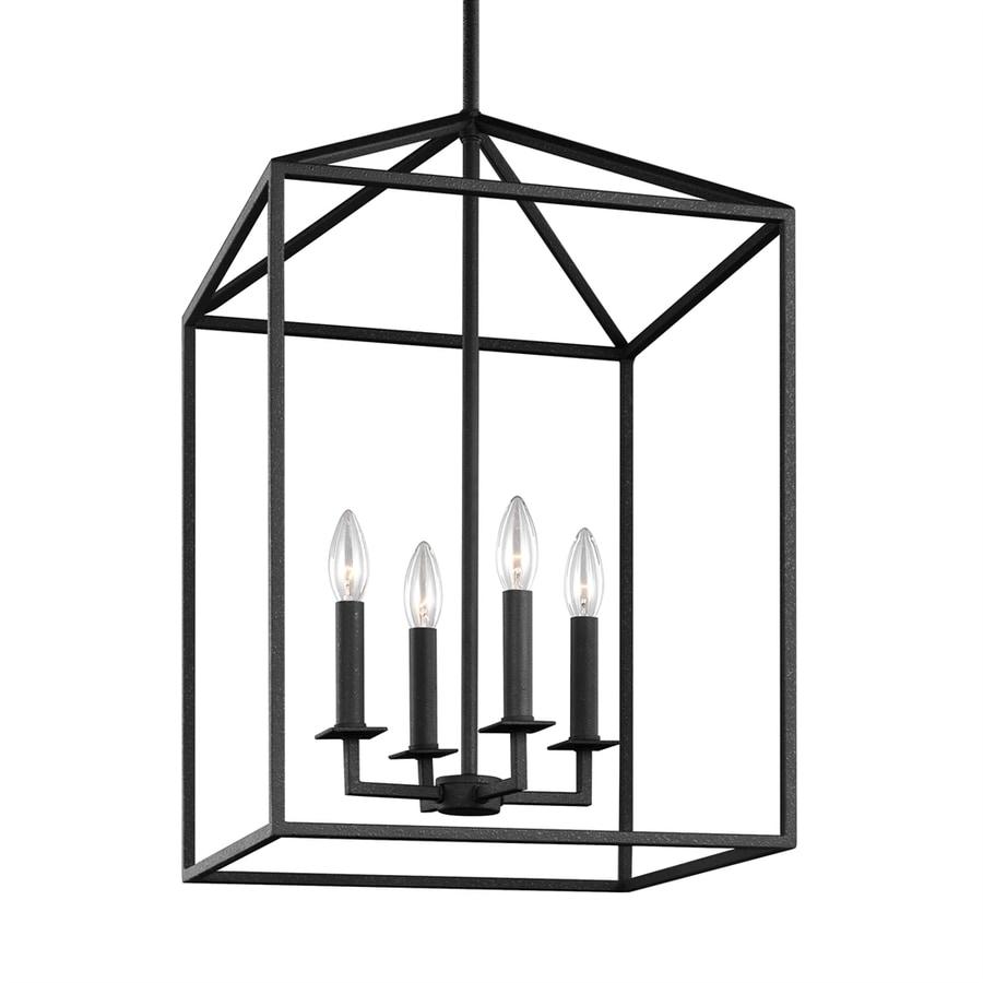 Sea Gull Lighting Perryton 15.5-in Blacksmith Rustic Single Cage Pendant