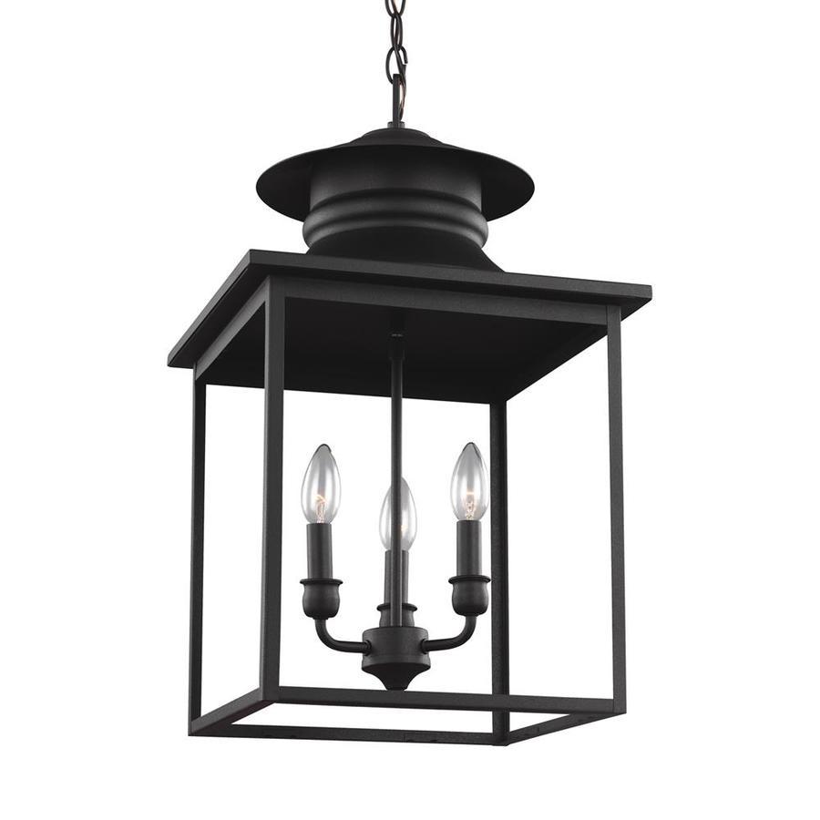 Sea Gull Lighting Huntsville 14-in Blacksmith Barn Single Lantern Pendant