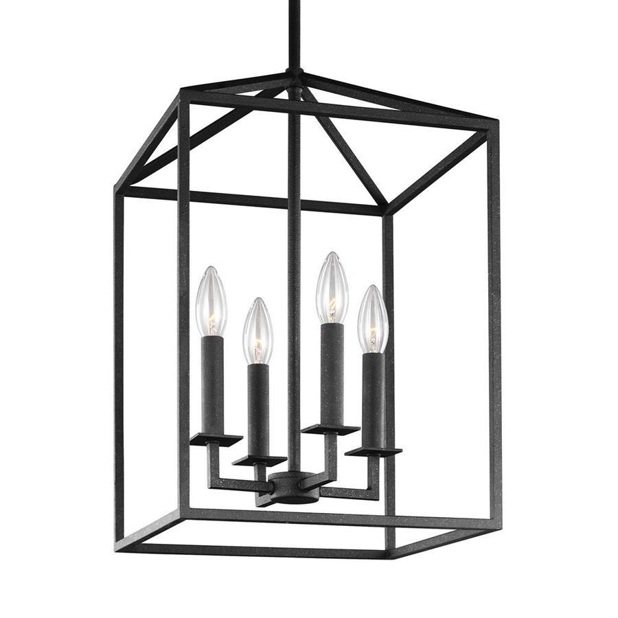 Sea Gull Lighting Perryton 12.25-in Blacksmith Rustic Single Cage Pendant