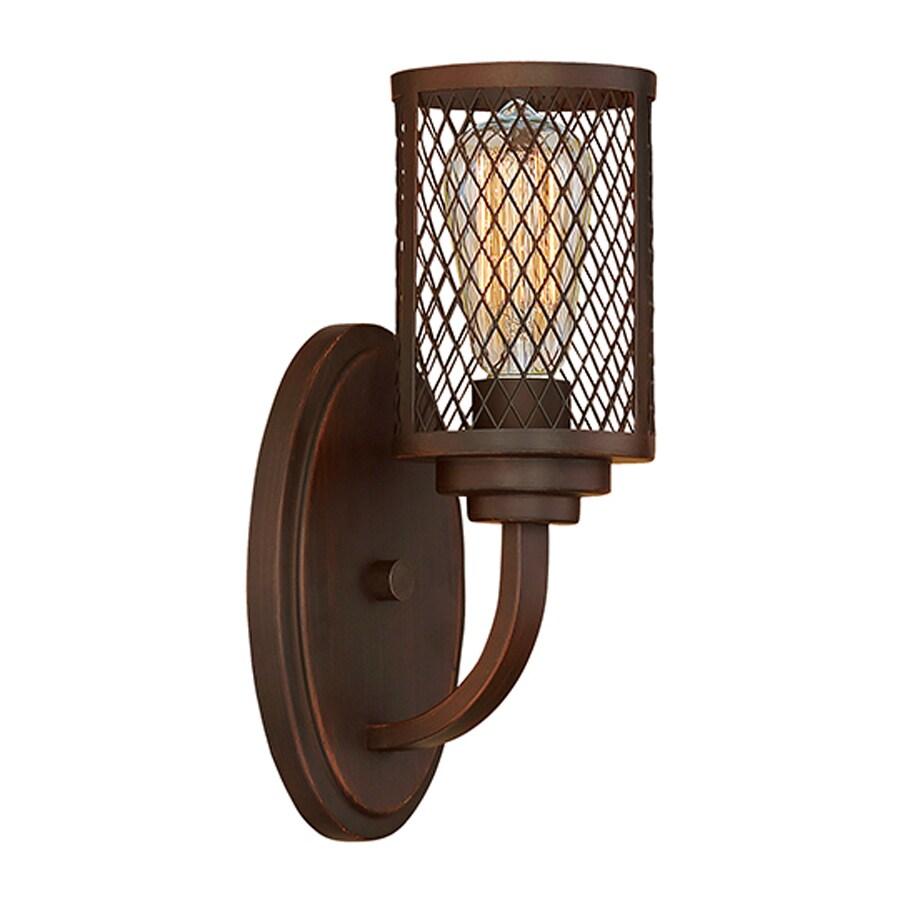 Millennium Lighting 1-Light Akron Rubbed Bronze Bathroom Vanity Light