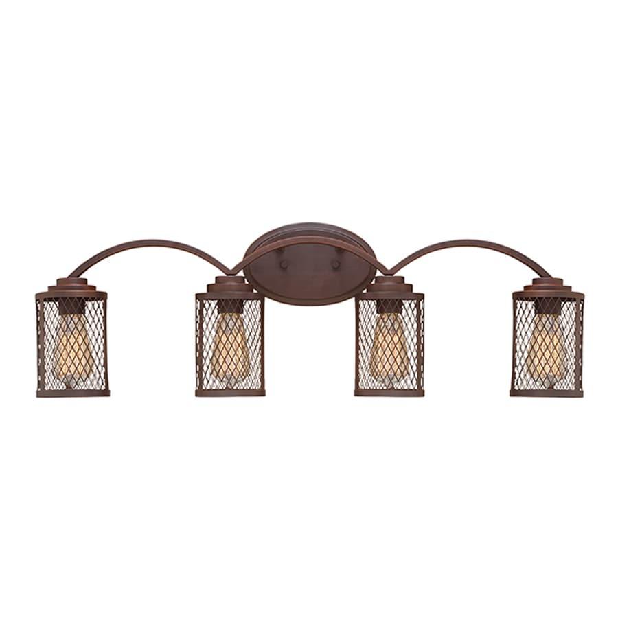 Millennium Lighting 4-Light Akron Rubbed Bronze Bathroom Vanity Light