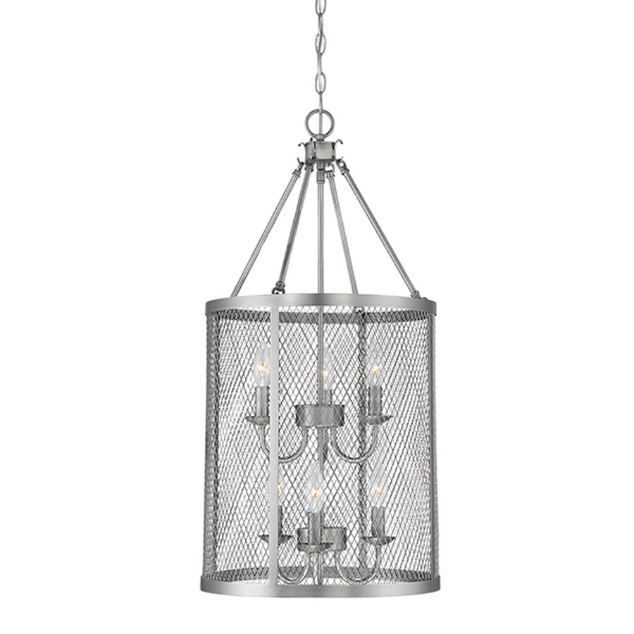 Millennium Lighting Akron 15-in Brushed Pewter Industrial Single Drum Pendant