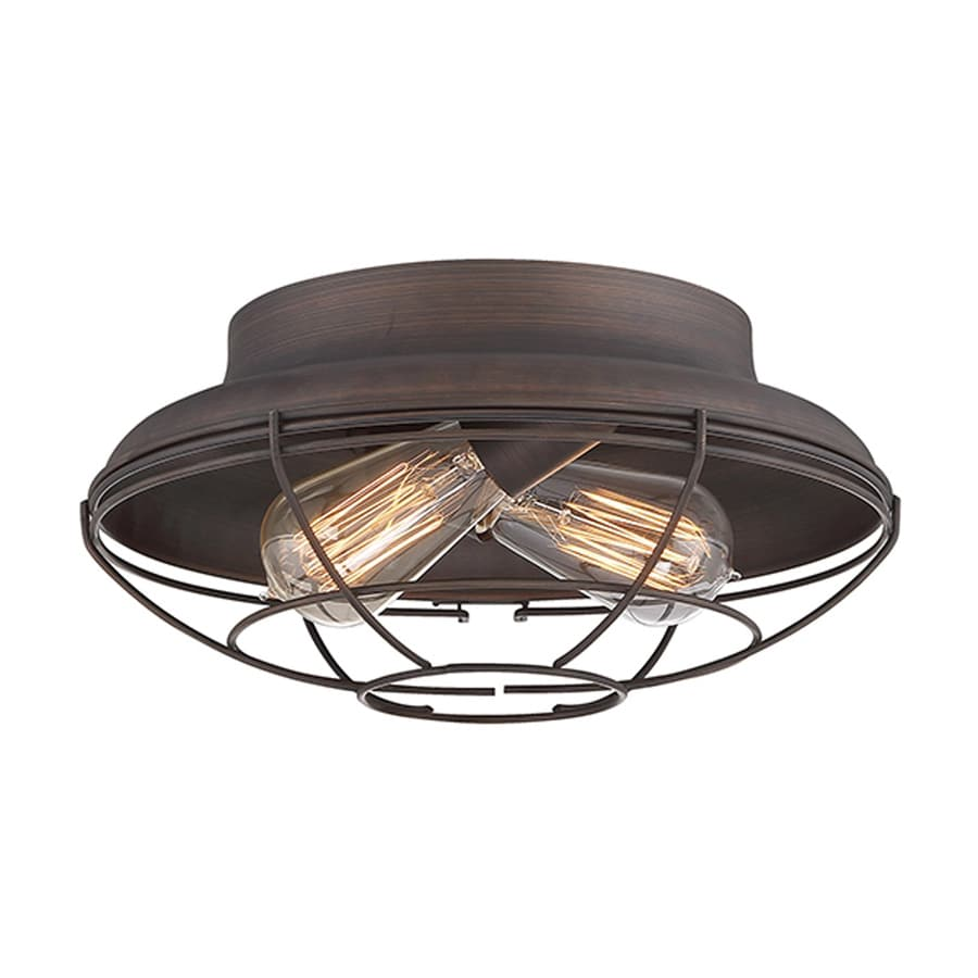 lighting neo industrial 12 in w rubbed bronze ceiling flush mount