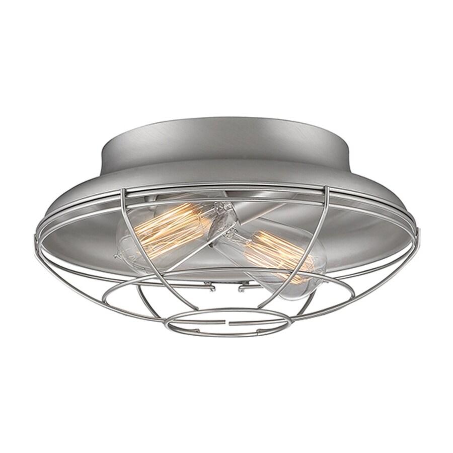 Millennium Lighting Neo-Industrial 12-in W Satin Nickel Ceiling Flush Mount Light