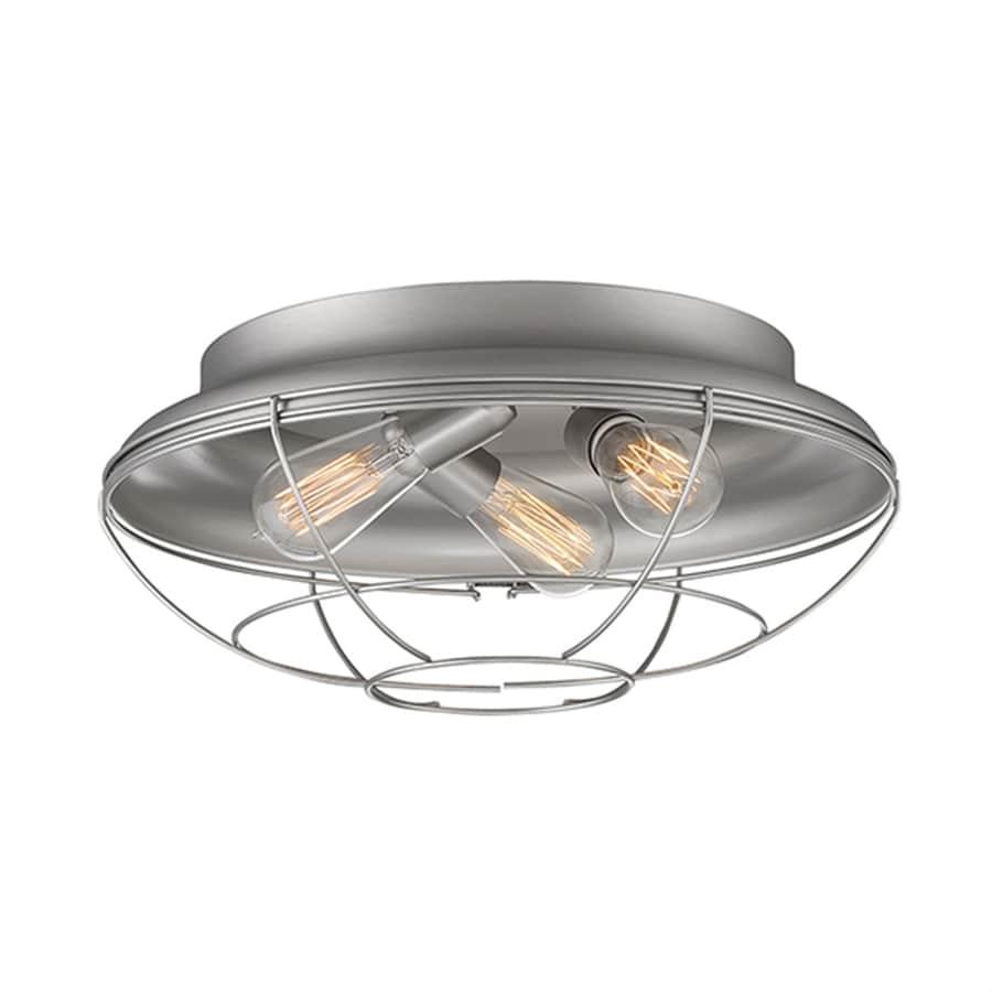 Millennium Lighting Neo-Industrial 17-in W Satin Nickel Ceiling Flush Mount Light