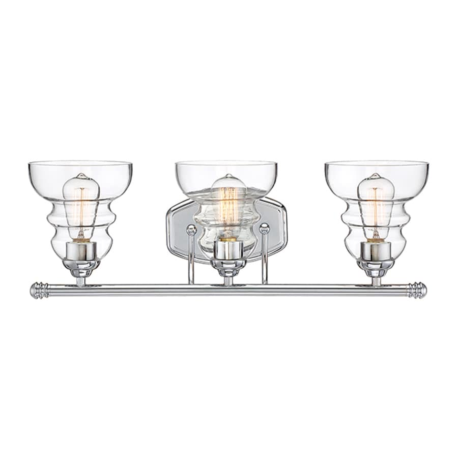 Shop Millennium Lighting 3 Light Chrome Bathroom Vanity Light At