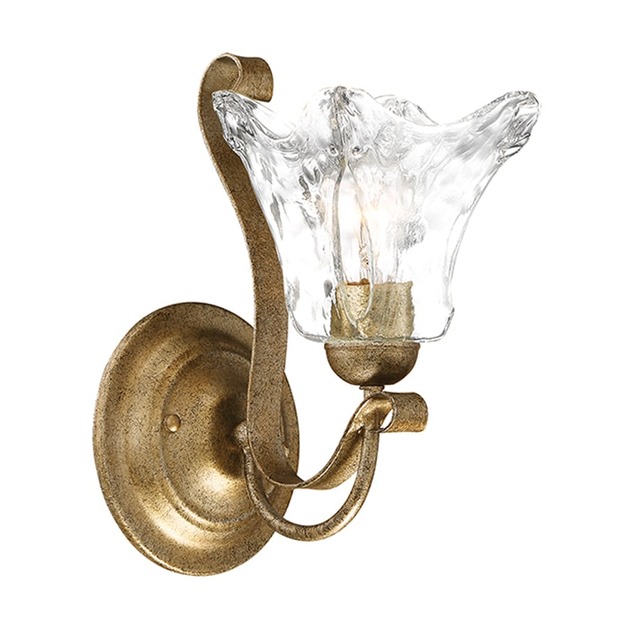 Millennium Lighting 1-Light Chatsworth Vintage Gold Bathroom Vanity Light