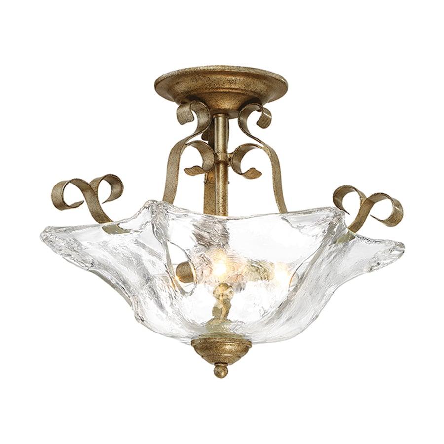 Millennium Lighting Chatsworth 18-in W Vintage Gold Textured Semi-Flush Mount Light