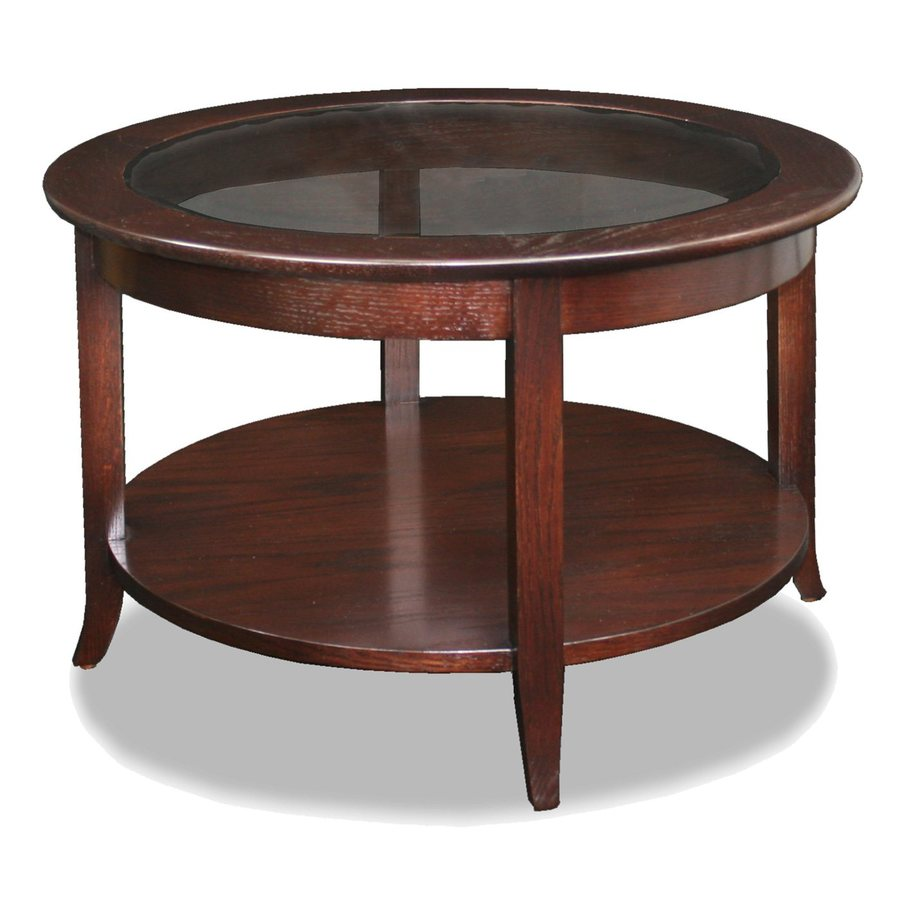 Leick Favorite Finds Chocolate Ash Round Coffee Table