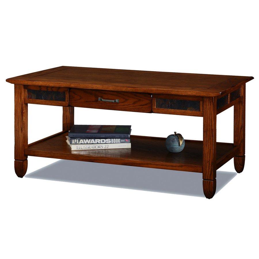 Leick Slatestone Rustic Oak Rectangular Coffee Table