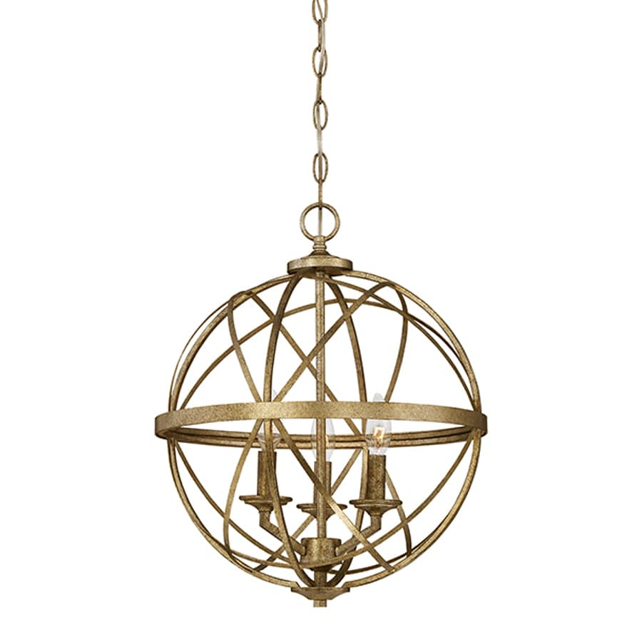 Millennium Lighting Lakewood 16-in Vintage Gold Industrial Single Orb Pendant