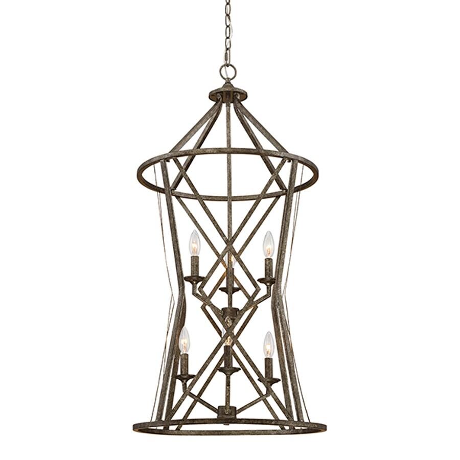 Millennium Lighting Lakewood 20-in Antique Silver Vintage Single Cage Pendant