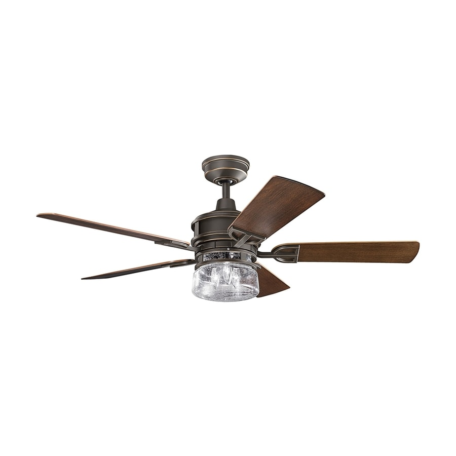 High Speed Outdoor Ceiling Fans: Shop Kichler Lighting Lyndon 52-in Olde Bronze Downrod
