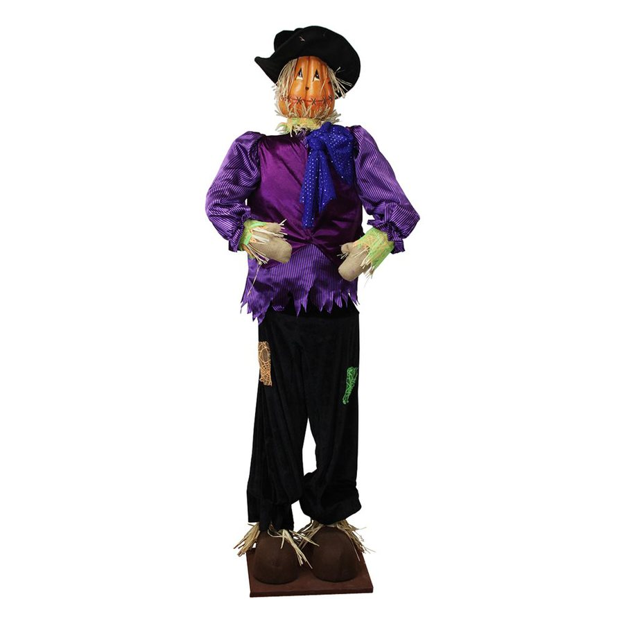 Christmas Central Plush Freestanding Scarecrow Greeter