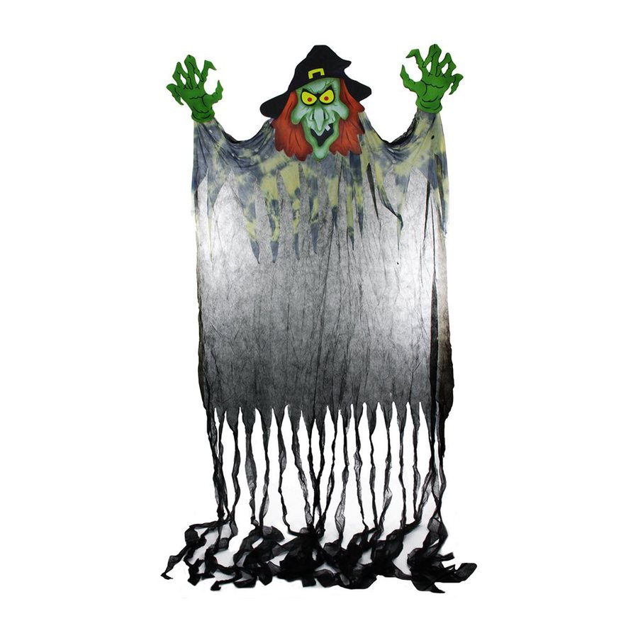 Christmas Central Spine-Chilling Witch Rayon Freestanding Greeter