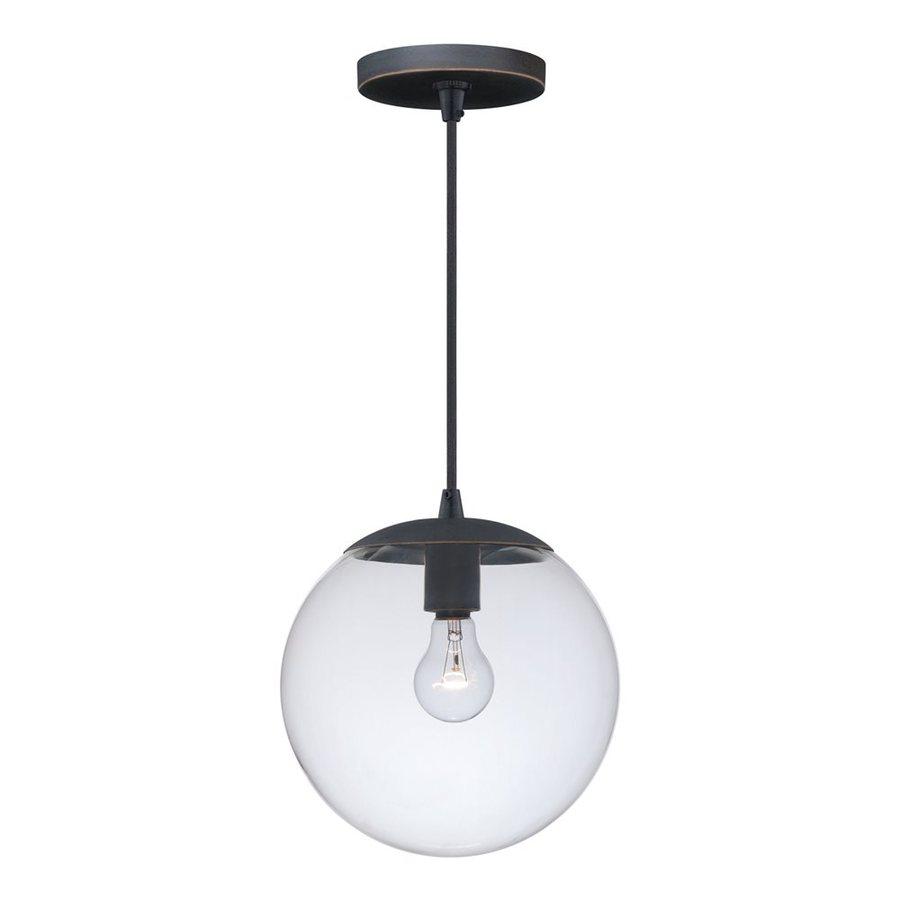 Cascadia Lighting 10-in Black Iron Industrial Single Clear Glass Globe Pendant