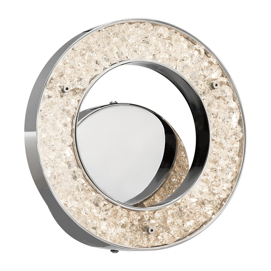 Elan Crushed Ice Chrome LED Bathroom Vanity Light