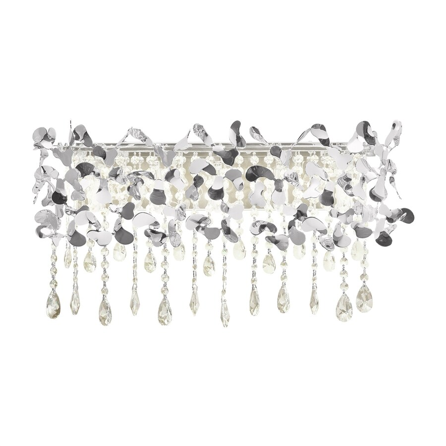 Elan Alexa Chrome Crystal Accent Bathroom Vanity Light