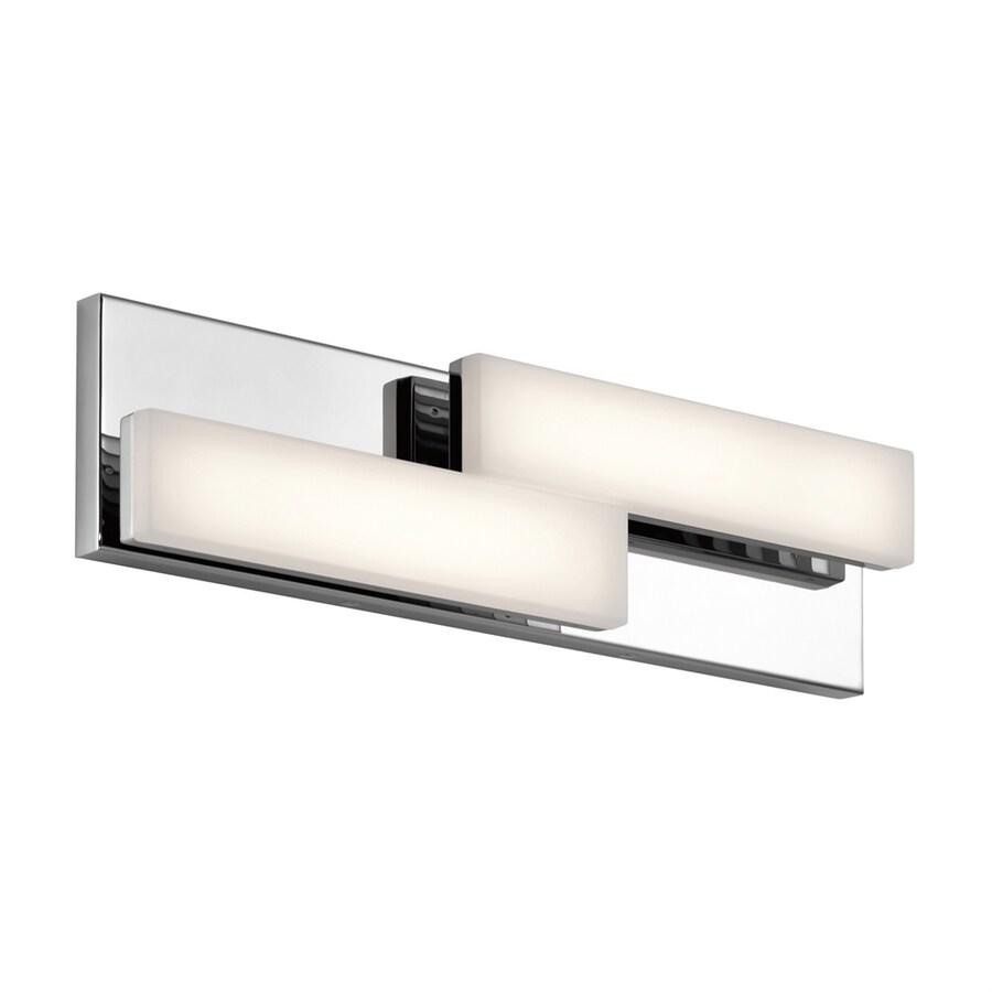 Elan 2-Light Zagg Chrome LED Bathroom Vanity Light