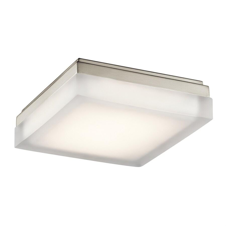 Elan Arston 9-in W Brushed Nickel Integrated LED Ceiling Flush Mount Light