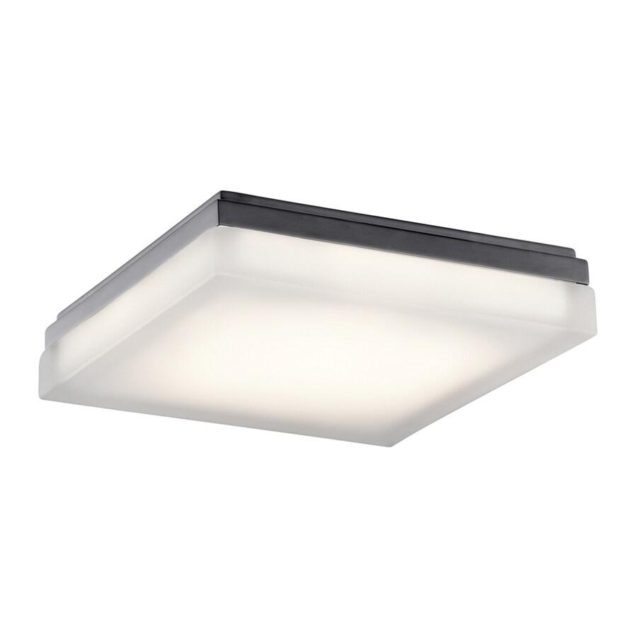 Elan Arston 12-in W Bronze Integrated LED Ceiling Flush Mount Light