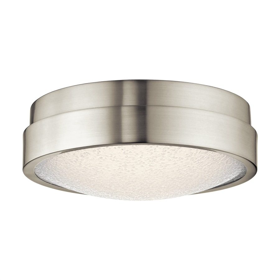 Elan Piazza 13-in W Brushed Nickel Integrated LED Ceiling Flush Mount Light