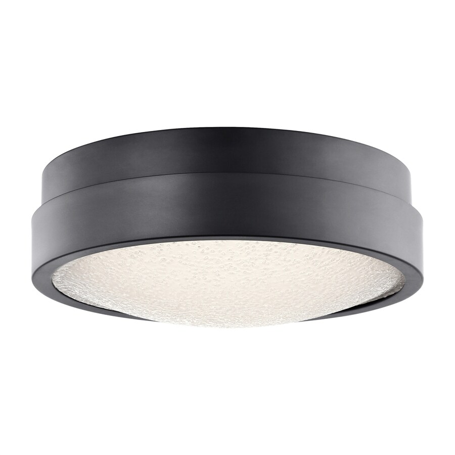 Elan Piazza 13-in W Bronze Integrated LED Ceiling Flush Mount Light